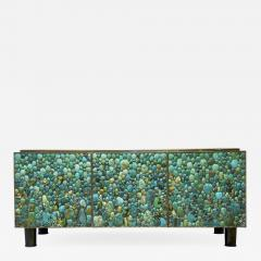 KAM TIN Sideboard in turquoise cabochon by KAM TIN - 972551