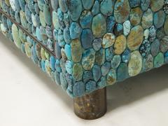 KAM TIN Turquoise and labradorite sideboard by KAM TIN - 973552