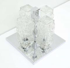 Kaiser Kaiser Ice Glass and Chrome Flush Mount 1 of 2 - 1703904