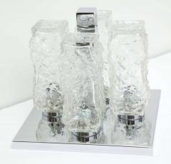 Kaiser Kaiser Ice Glass and Chrome Flush Mount 1 of 2 - 1703906