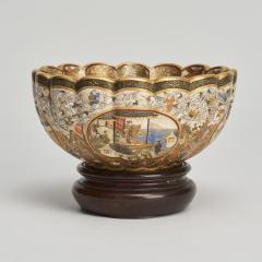 Kaizan A miniature Japanese Satsuma bowl - 1269561