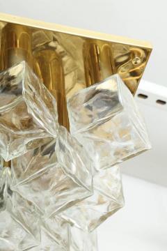 Kalmar Franken KG Kalmar Brass and Glass Ice Cube Flush Mount - 918341