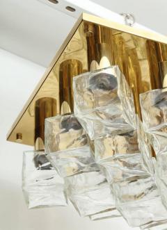 Kalmar Franken KG Kalmar Brass and Glass Ice Cube Flush Mount - 918342