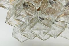 Kalmar Franken KG Kalmar Brass and Glass Ice Cube Flush Mount - 918344