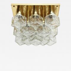 Kalmar Franken KG Kalmar Brass and Glass Ice Cube Flush Mount - 921059