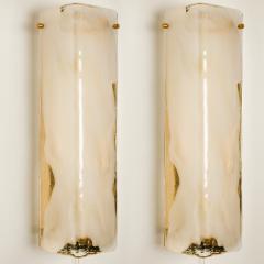 Kalmar Franken KG Pair of Brass and Bras Handblown Murano Glass Wall Lights by J T Kalmar 1960s - 1012994