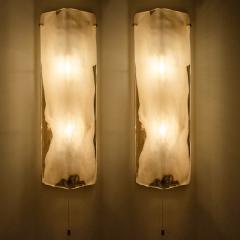 Kalmar Franken KG Pair of Brass and Bras Handblown Murano Glass Wall Lights by J T Kalmar 1960s - 1012996