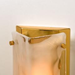 Kalmar Franken KG Pair of Brass and Bras Handblown Murano Glass Wall Lights by J T Kalmar 1960s - 1012998