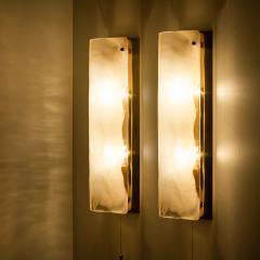 Kalmar Franken KG Pair of Brass and Bras Handblown Murano Glass Wall Lights by J T Kalmar 1960s - 1012999