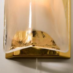 Kalmar Franken KG Pair of Brass and Bras Handblown Murano Glass Wall Lights by J T Kalmar 1960s - 1013000