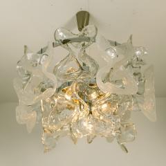 Kalmar Lighting Kalmar Catena Murano Glass Chrome Chandelier 1970s - 989151