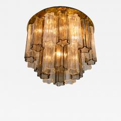 Kalmar Lighting Rare J T Kalmar Pagoda Chandelier in Blown Glass and Brass 1960 - 1001425