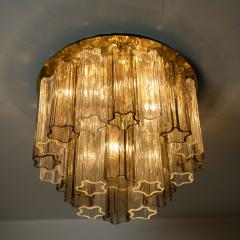 Kalmar Lighting Rare J T Kalmar Pagoda Chandelier in Blown Glass and Brass 1960 - 999821