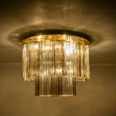 Kalmar Lighting Rare J T Kalmar Pagoda Chandelier in Blown Glass and Brass 1960 - 999824