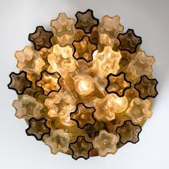 Kalmar Lighting Rare J T Kalmar Pagoda Chandelier in Blown Glass and Brass 1960 - 999828