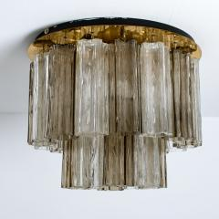 Kalmar Lighting Rare J T Kalmar Pagoda Chandelier in Blown Glass and Brass 1960 - 999829