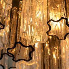 Kalmar Lighting Rare J T Kalmar Pagoda Chandelier in Blown Glass and Brass 1960 - 999830