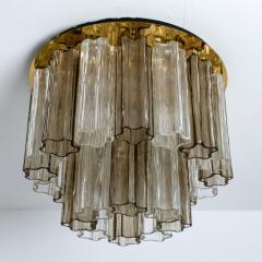 Kalmar Lighting Rare J T Kalmar Pagoda Chandelier in Blown Glass and Brass 1960 - 999831