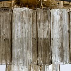 Kalmar Lighting Rare J T Kalmar Pagoda Chandelier in Blown Glass and Brass 1960 - 999832