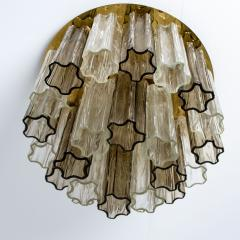 Kalmar Lighting Rare J T Kalmar Pagoda Chandelier in Blown Glass and Brass 1960 - 999833