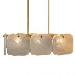 Kalmar Lighting Set Glass and Brass Light Fixtures Designed by J T Kalmar Austria 1960s - 1003640