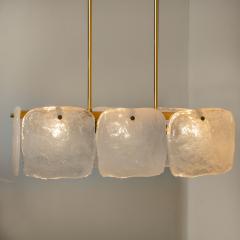 Kalmar Lighting Set Glass and Brass Light Fixtures Designed by J T Kalmar Austria 1960s - 1003641