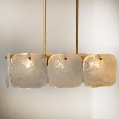 Kalmar Lighting Set Glass and Brass Light Fixtures Designed by J T Kalmar Austria 1960s - 1003642
