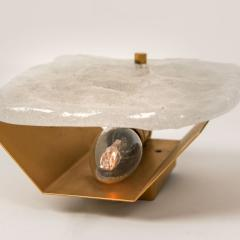 Kalmar Lighting Set Glass and Brass Light Fixtures Designed by J T Kalmar Austria 1960s - 1003646