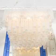 Kalmar Tiered Ice Inspired Glass Chandelier - 68366