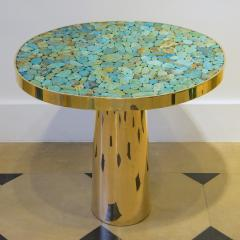 Kam Tin KAM TIN Turquoise tall side table - 1164894