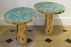 Kam Tin KAM TIN Turquoise tall side table - 1164899