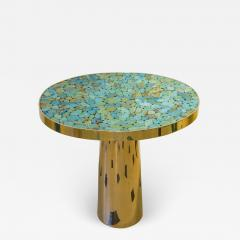 Kam Tin KAM TIN Turquoise tall side table - 1165927