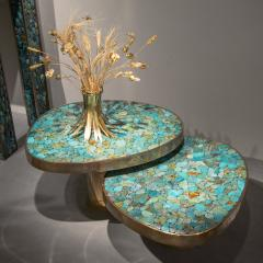 Kam Tin Pair of Turquoise side tables - 1245111