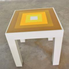 Kartell Trio of mod pop art plastic parsons style square side tables style kartell - 1598515