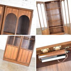 Keller Manufacturing Keller furniture mcm lighted display cabinet bookcase - 1598288