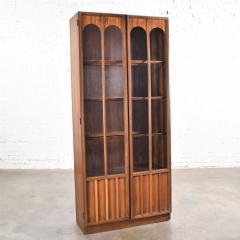 Keller Manufacturing Keller furniture mcm lighted display cabinet bookcase - 1598289