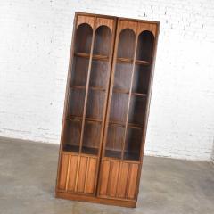Keller Manufacturing Keller furniture mcm lighted display cabinet bookcase - 1598290