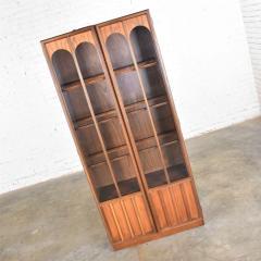 Keller Manufacturing Keller furniture mcm lighted display cabinet bookcase - 1598291