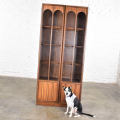 Keller Manufacturing Keller furniture mcm lighted display cabinet bookcase - 1598293