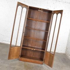Keller Manufacturing Keller furniture mcm lighted display cabinet bookcase - 1598294