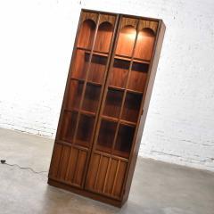 Keller Manufacturing Keller furniture mcm lighted display cabinet bookcase - 1598302