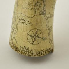 Kelly Kinzle Antiques Outstanding Carolina Map Powder Horn from the French and Indian War - 886436