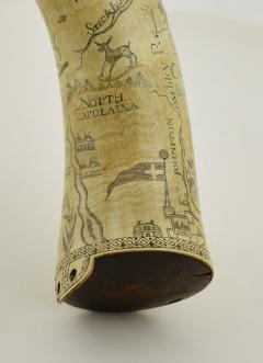 Kelly Kinzle Antiques Outstanding Carolina Map Powder Horn from the French and Indian War - 886437