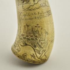Kelly Kinzle Antiques Outstanding Carolina Map Powder Horn from the French and Indian War - 886438