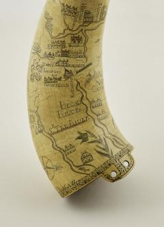 Kelly Kinzle Antiques Outstanding Carolina Map Powder Horn from the French and Indian War - 886440
