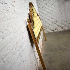 Kessler Industries Inc Hollywood regency king headboard of gilded cast aluminum tufted yellow velvet - 1639647