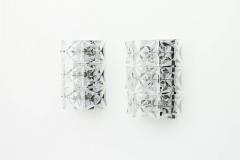 Kinkeldey Crystal Glass Wall Sconces Glass Lights by Kinkeldey circa 1960s - 1858223
