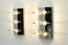 Kinkeldey Crystal Glass Wall Sconces Glass Lights by Kinkeldey circa 1960s - 1858225