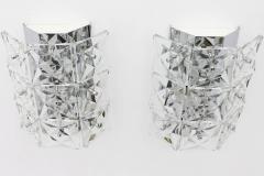 Kinkeldey Crystal Glass Wall Sconces Glass Lights by Kinkeldey circa 1960s - 1858226