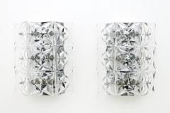 Kinkeldey Crystal Glass Wall Sconces Glass Lights by Kinkeldey circa 1960s - 1858229